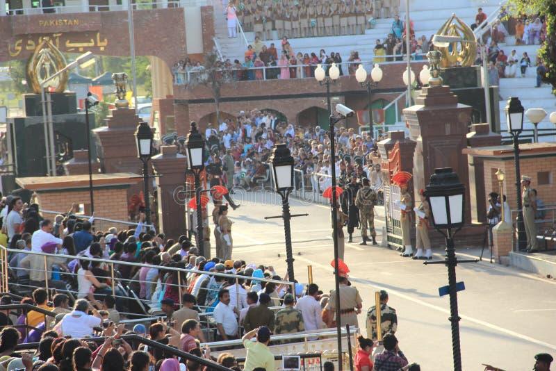 Indo-Pak Border. royalty free stock image