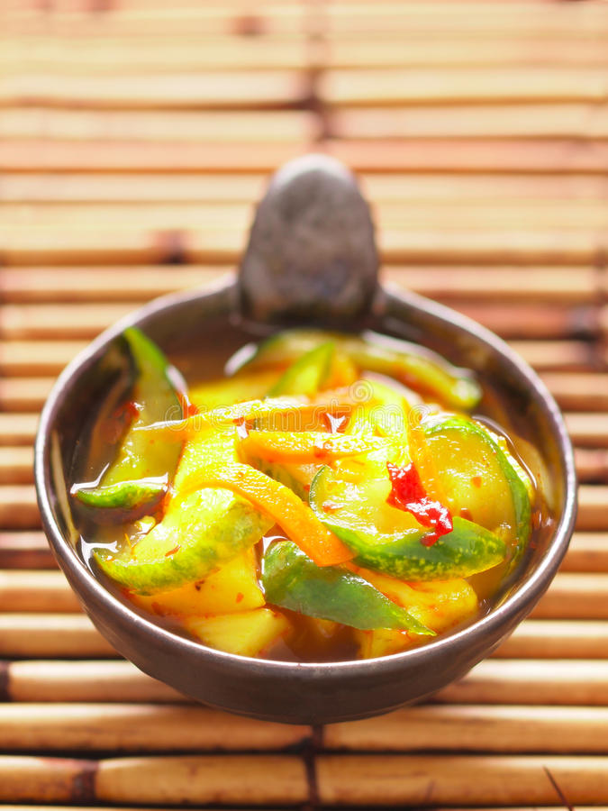 Indian pickled vegetables achar royalty free stock image