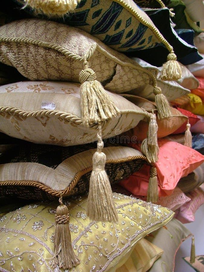 Indian pillows stock image