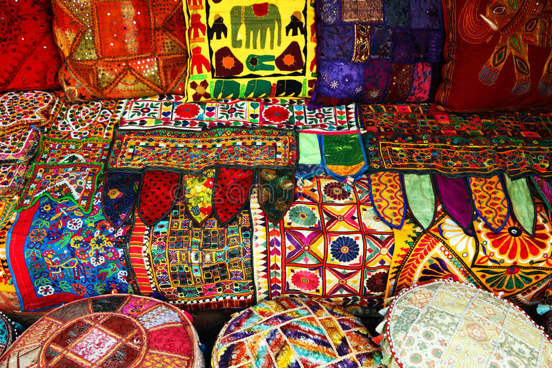Download Indian pillows and carpets stock photo. Image of india - 24546596