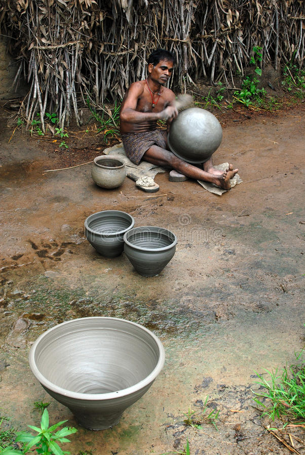 Download Indian Pottery Maker editorial stock photo. Image of creativity - 26667653