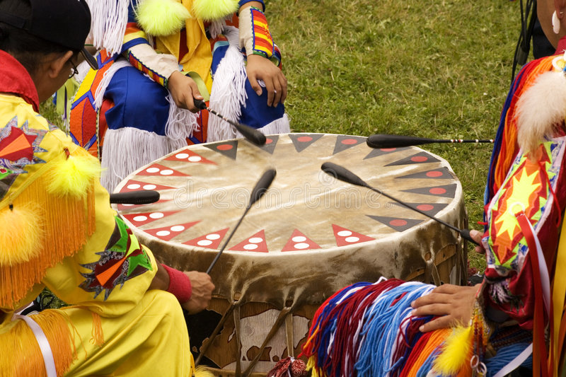 Indian Pow Wow stock images