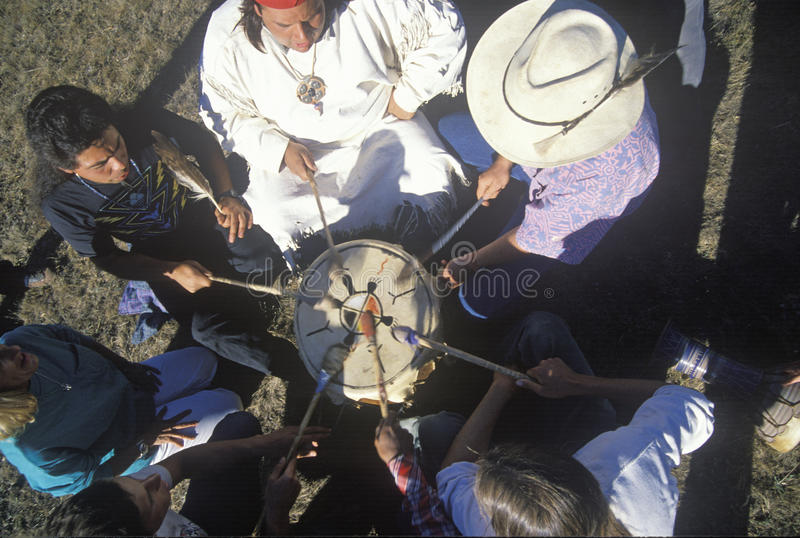 An Indian pow wow for earth environment in Big Sur California royalty free stock photo