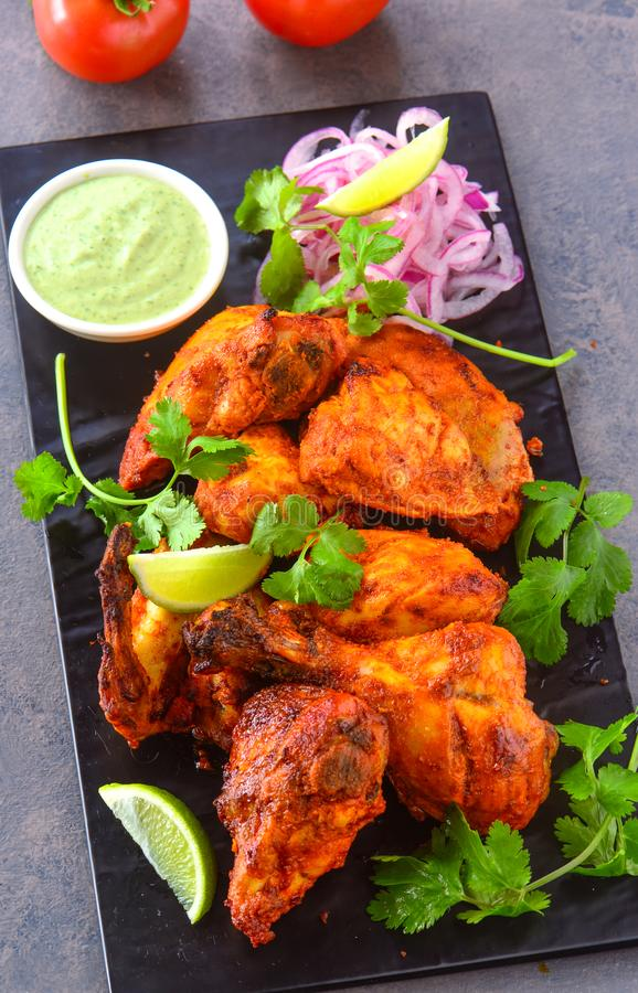 Tandoori chicken starter stock photo