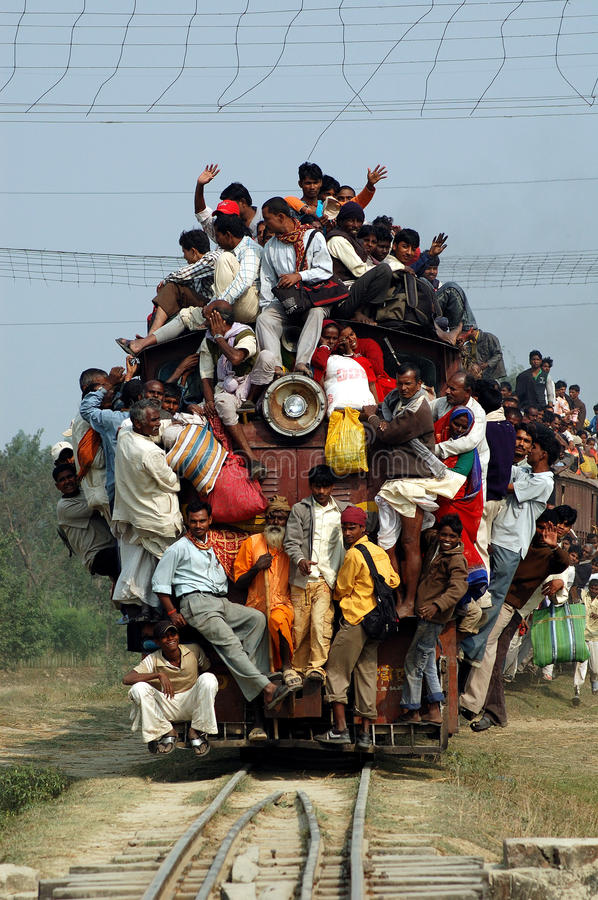 Indian Rail Journey. stock photography