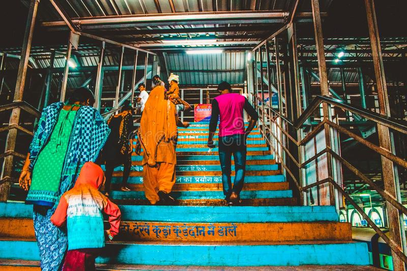 Indian railway station royalty free stock photography