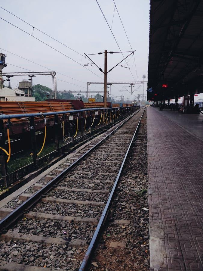 Indian railways. The Indian railways stock image