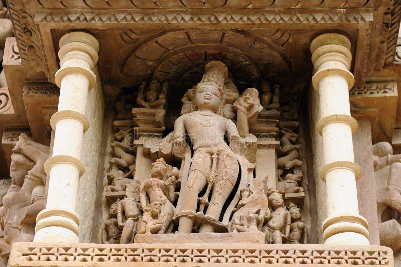 Indian Religious Erotic Symbols On Temples In Khajuraho Stock Image