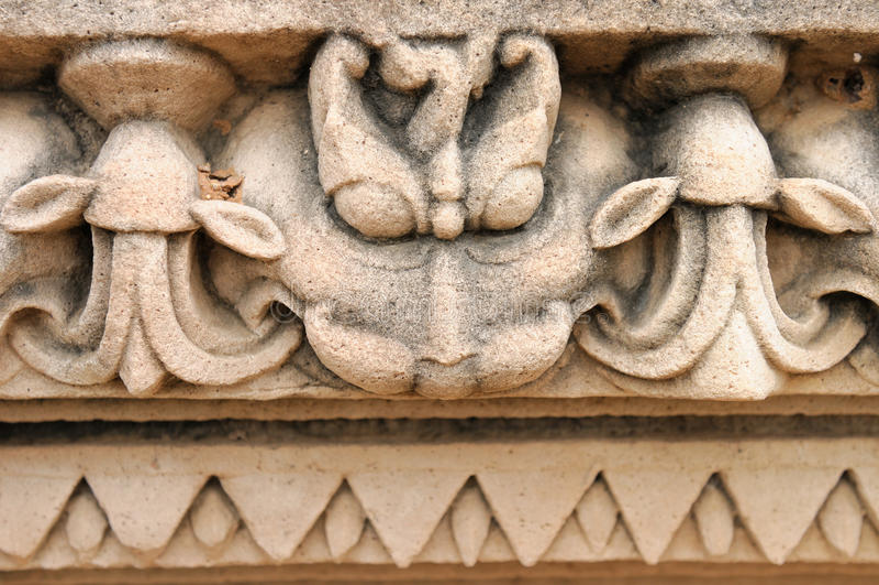 Indian Religious Symbols On Temples In Khajuraho Stock Image Image