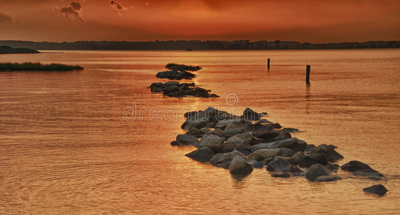Indian River Sunset stock photo