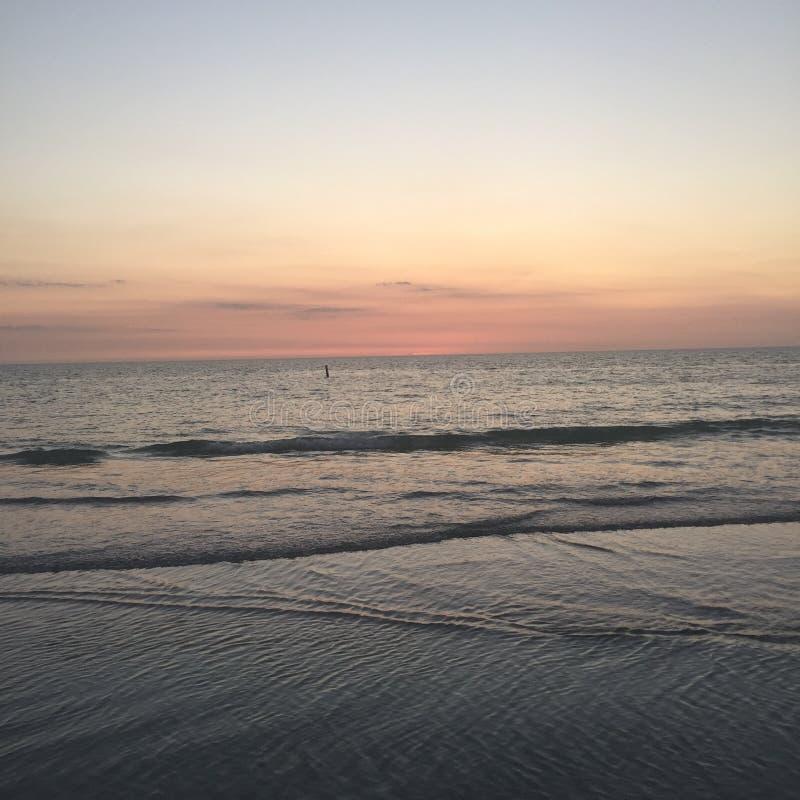 Indian Rocks Beach. Dusk at Indian Rocls Beach, FL royalty free stock image
