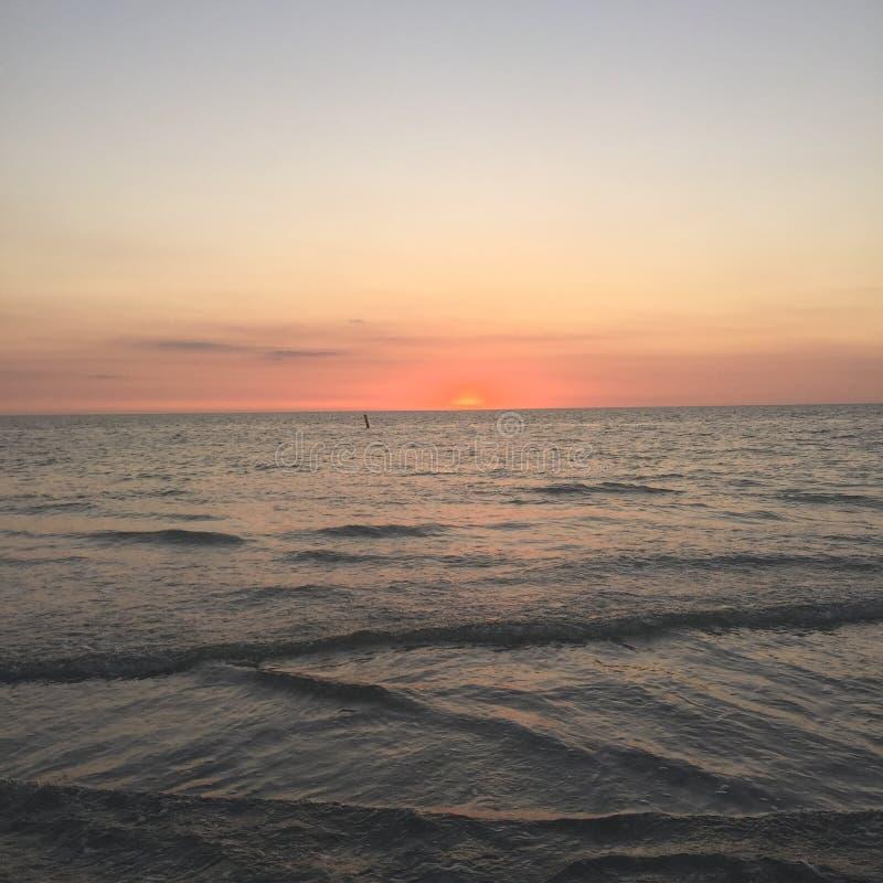 Indian Rocks Beach. Sunset at Indian Rocls Beach, FL stock image