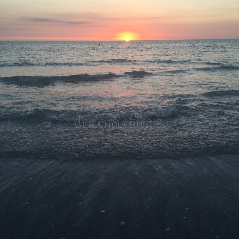 Indian Rocks Beach. Sunset at Indian Rocls Beach, FL royalty free stock photos