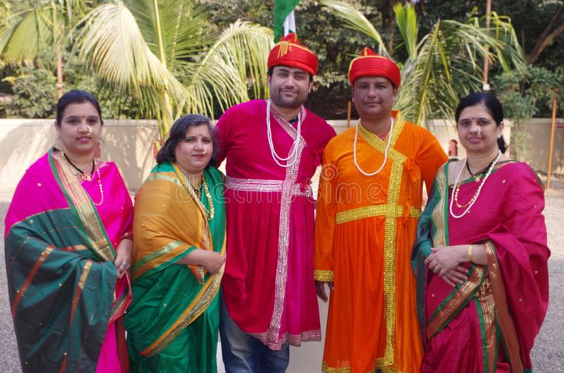 Indian royal family-2 stock image