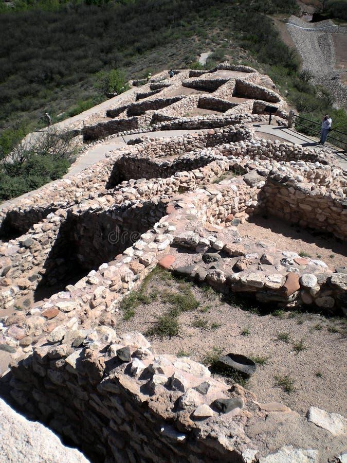 Download Indian ruins at Tuzigoot stock image. Image of ruins, tuzigoot - 7794081