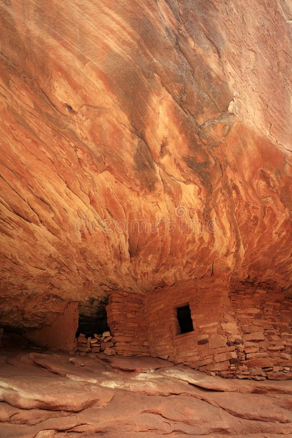 Indian ruins in a remote canyon image, Utah, USA. stock images
