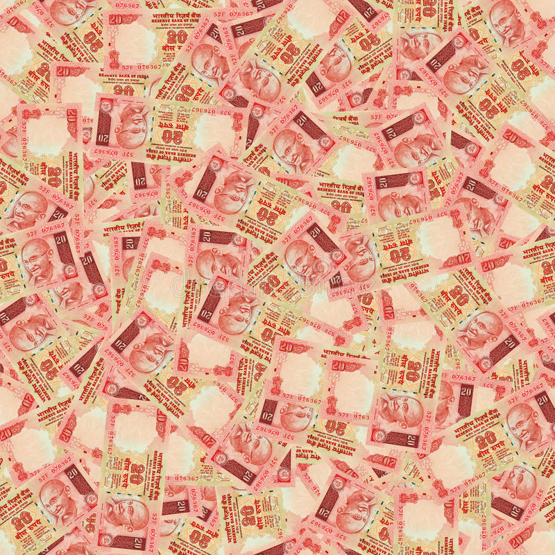 Indian rupees seamless texture