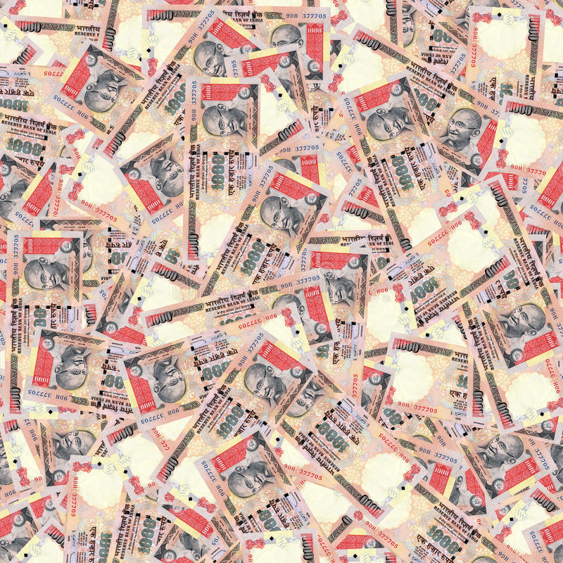 Download Indian Rupees Seamless Texture Stock Photo - Image: 25623236