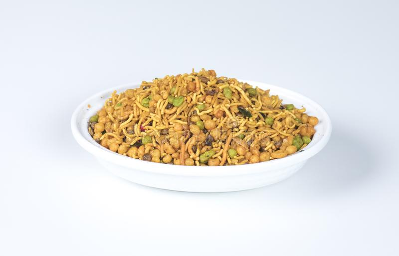 Mix Namkeen. Indian Salty food mix namkeen royalty free stock images