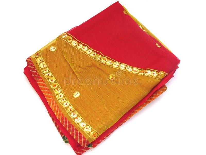 Indian Saree-Isolado fotografia de stock royalty free