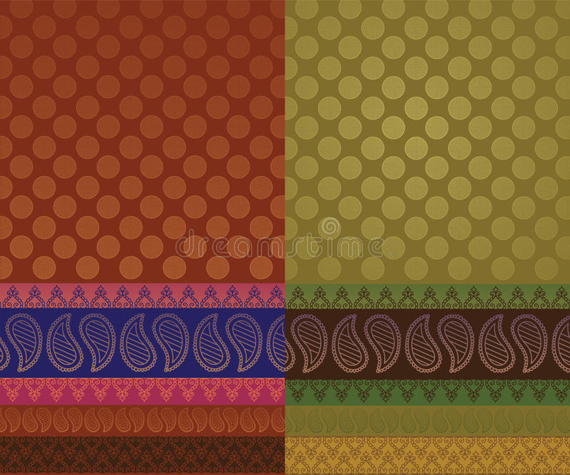 Indian Sari Design royalty free illustration