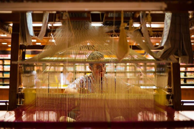 Download Indian Sari Weaver Hand Loom Inside Editorial Stock Photo - Image: 25962398