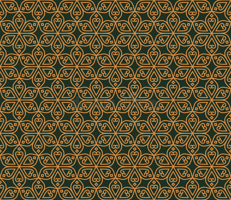 Indian Seamless Abstract Pattern Traditional Flowers royalty free illustration