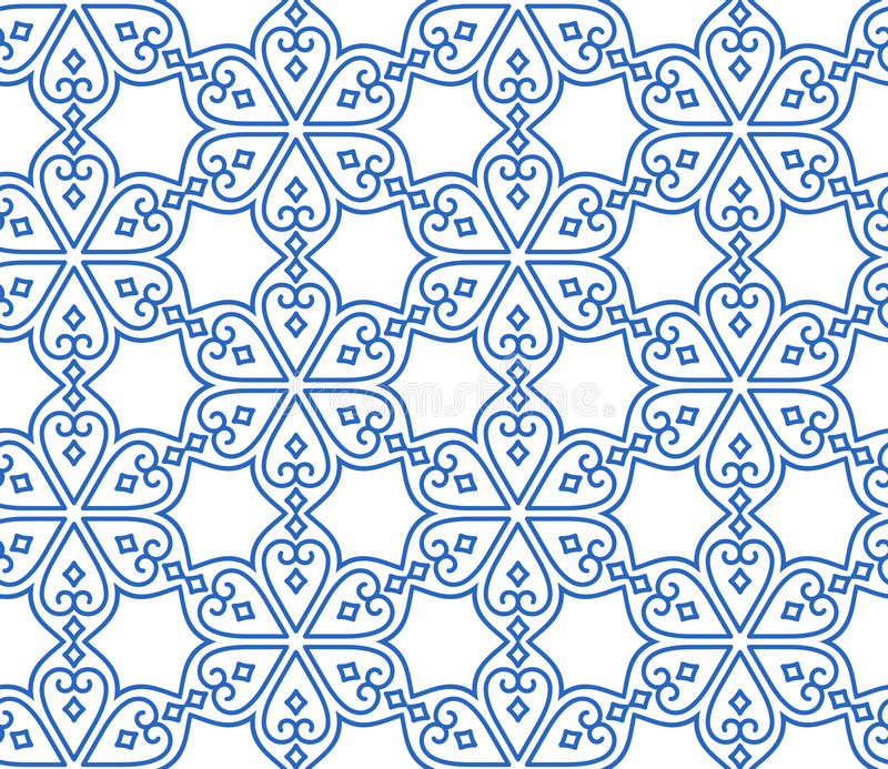 Indian seamless abstract pattern royalty free illustration