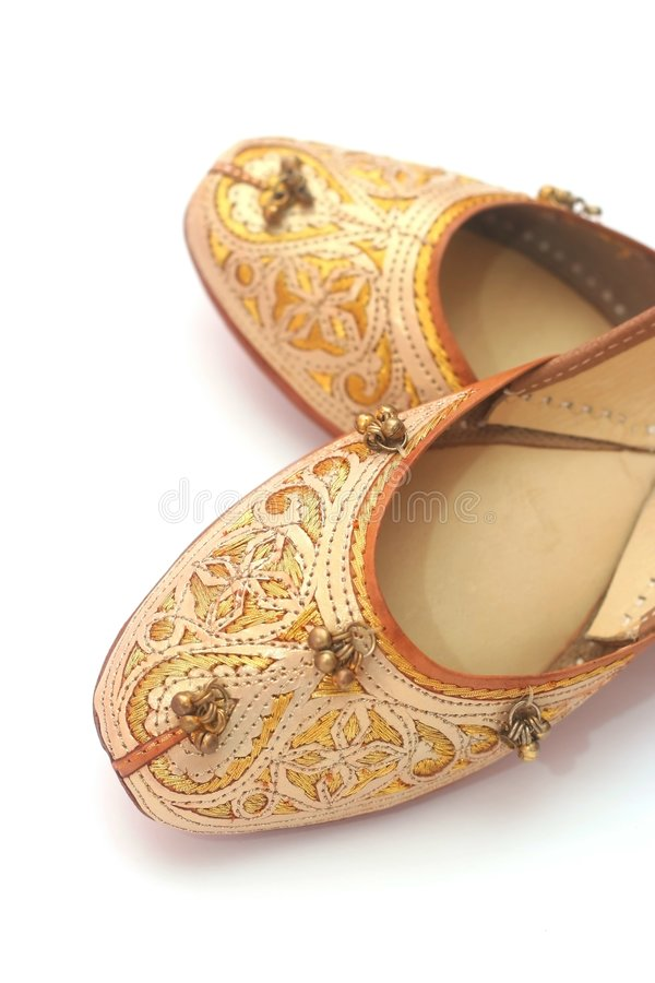 Indian shoes stock images