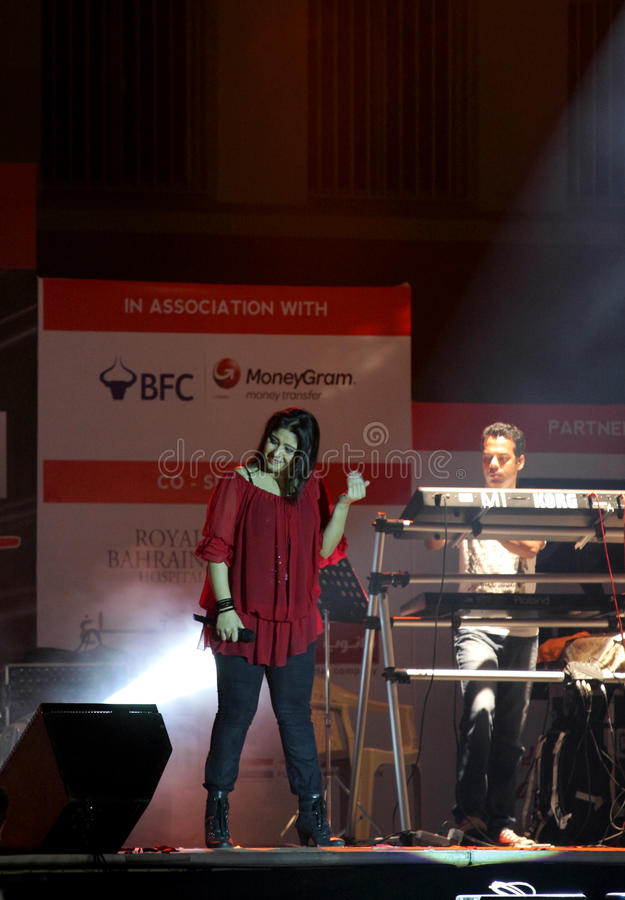 Indian Singer Sunidhi Chauhan Performs At Bahrain Editorial Stock Photo