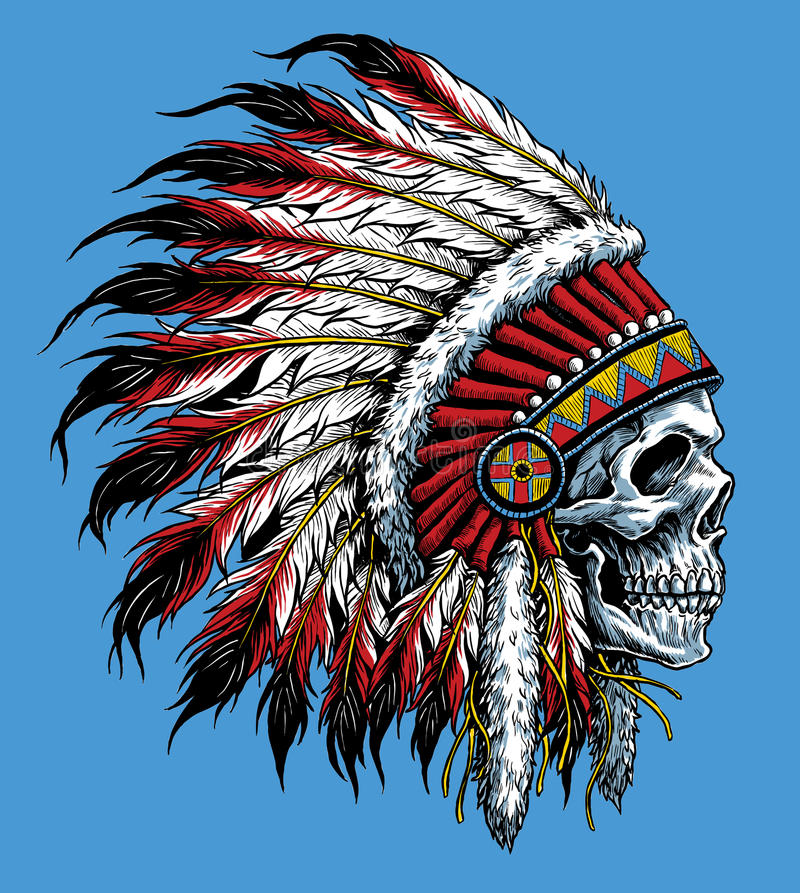 Free Indian Skull Vector Illustration Stock Photo - 44681850