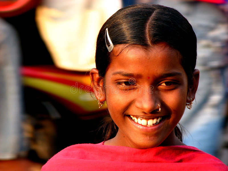 Indian Smile stock photography