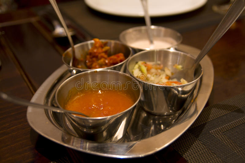 Indian snack poppadoms royalty free stock photo