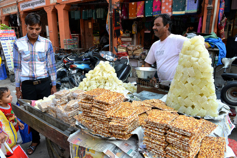 Indian Snack on Street, Jaipur royalty free stock photos