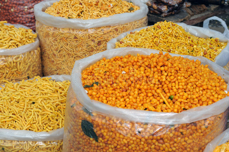 Indian Snacks stock photo