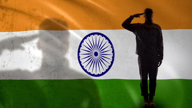 Soldier Indian Flag Stock Images - Download 341 Royalty Free