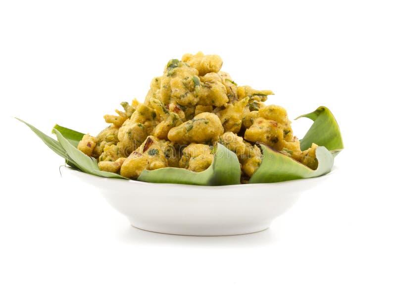 Pakora or bhajji. Indian special traditional fried food Pakora and chutney royalty free stock photos