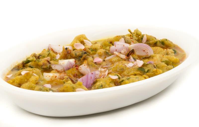 Pakora or bhajji. Indian special traditional fried food Pakora and chutney royalty free stock photo