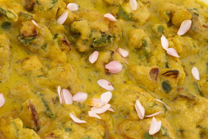 Pakora or bhajji. Indian special traditional fried food Pakora and chutney stock photography