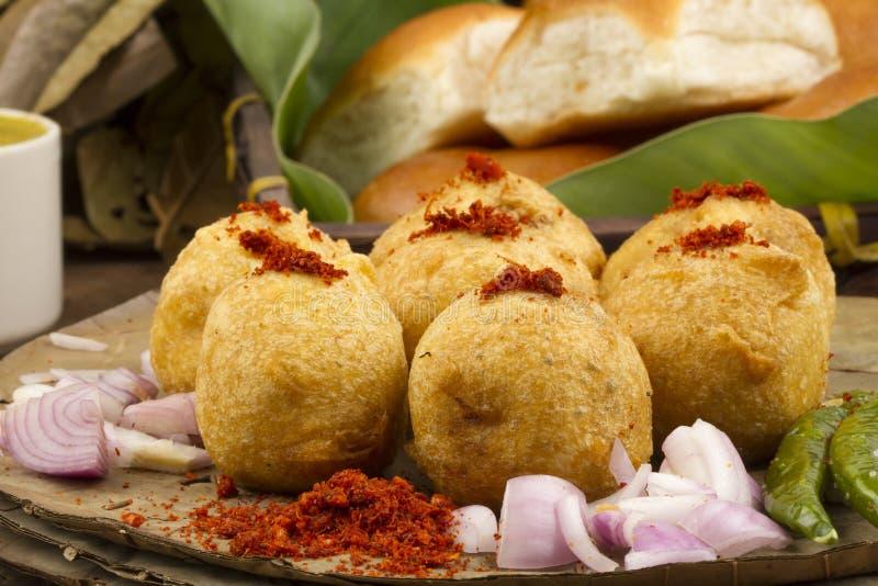 Vada Pav. Indian special traditional fried food vada pav royalty free stock photos