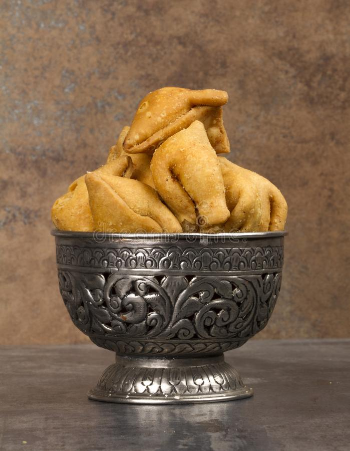 Samosa. Indian special traditional namkeen food `Dry Samosa royalty free stock photos