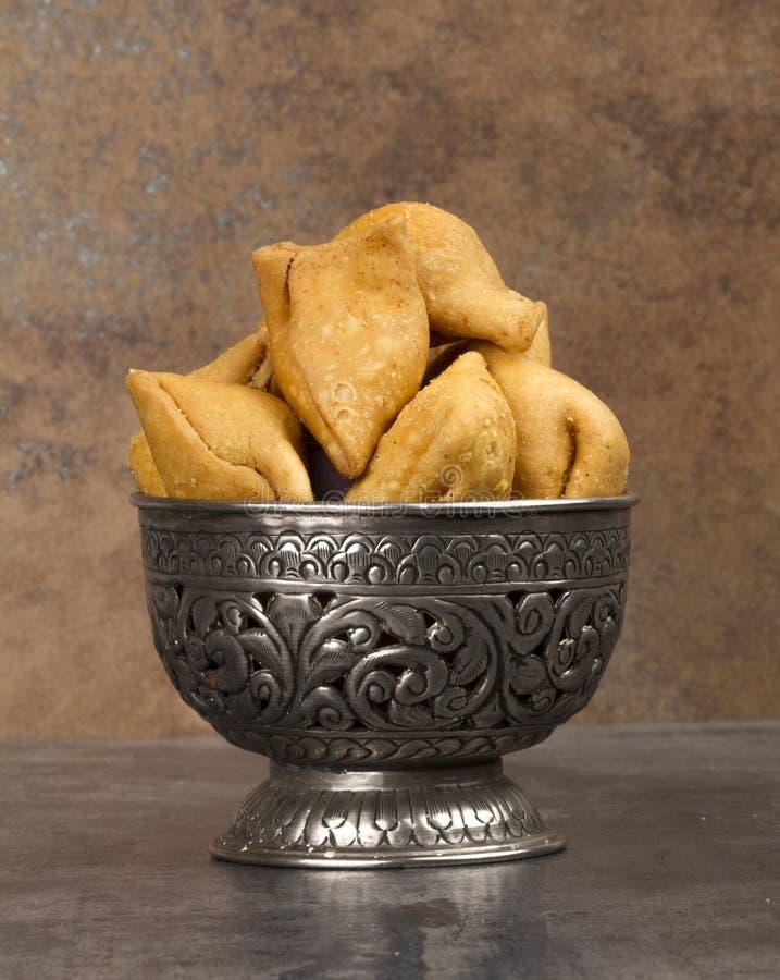 Samosa. Indian special traditional namkeen food `Dry Samosa royalty free stock photography