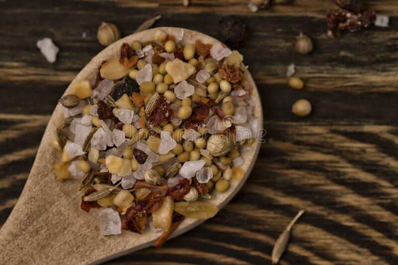 Indian spices food and cuisine ingredients. Soft focus , toned.  royalty free stock images