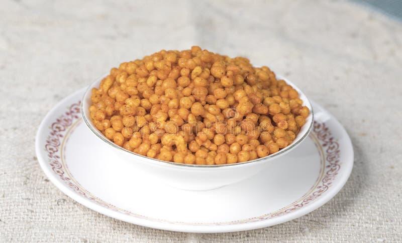 Pakori Or Bundi. Indian Spicy Food Pakori or Bundi Namkeen stock photos