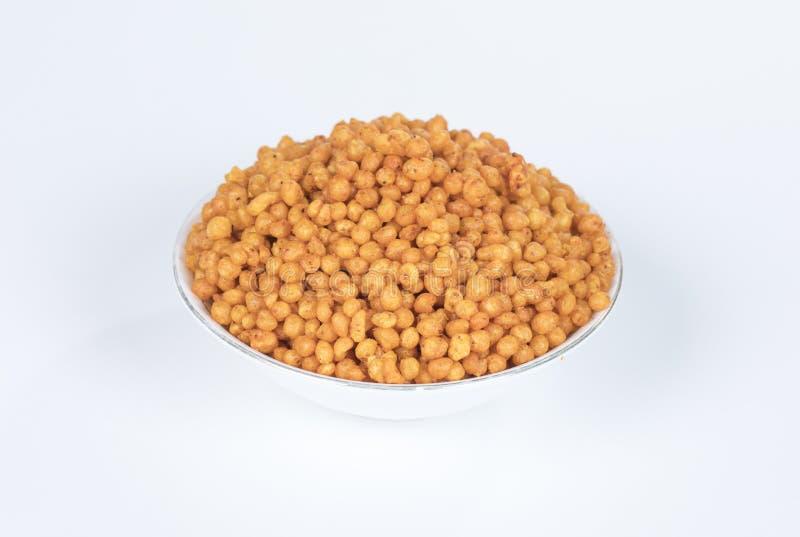 Pakori Or Bundi. Indian Spicy Food Pakori or Bundi Namkeen royalty free stock photos