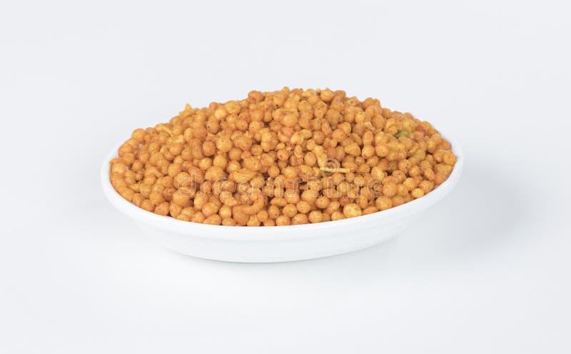 Pakori Or Bundi. Indian Spicy Food Pakori or Bundi Namkeen stock photo