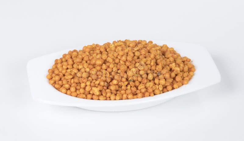 Pakori Or Bundi. Indian Spicy Food Pakori or Bundi Namkeen stock photography