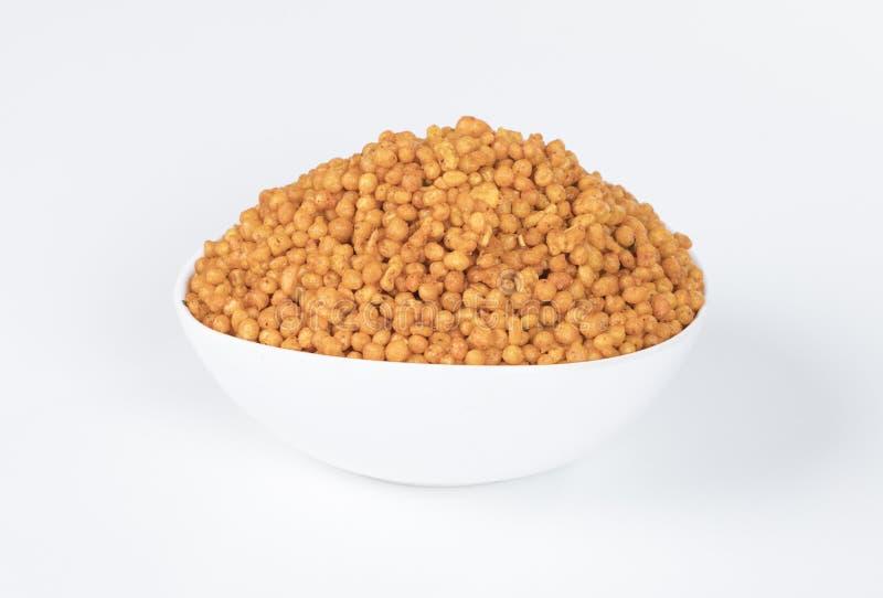 Pakori Or Bundi. Indian Spicy Food Pakori or Bundi Namkeen royalty free stock image