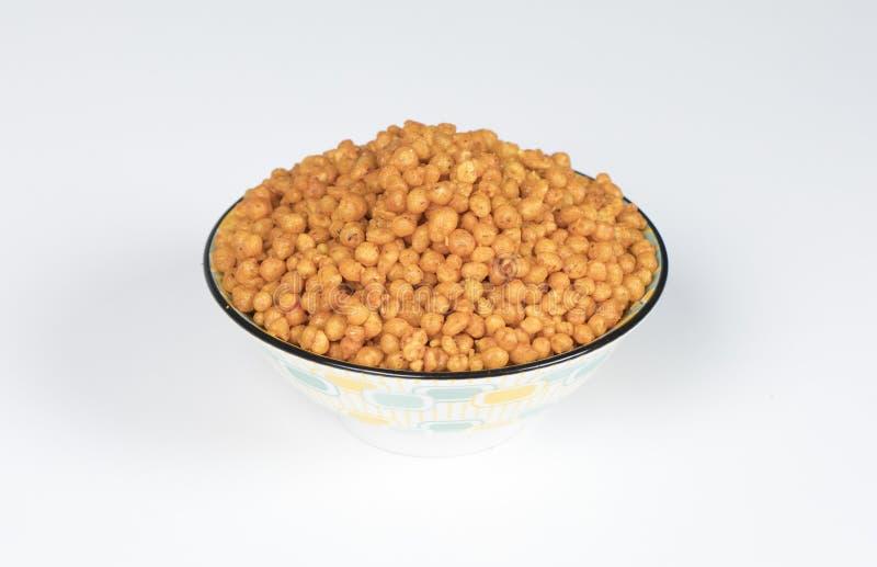 Pakori Or Bundi. Indian Spicy Food Pakori or Bundi Namkeen stock images