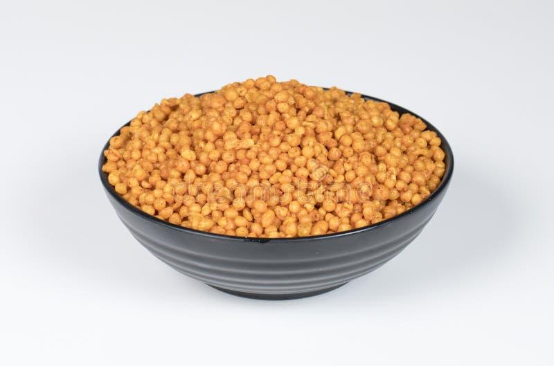 Pakori Or Bundi. Indian Spicy Food Pakori or Bundi Namkeen stock image